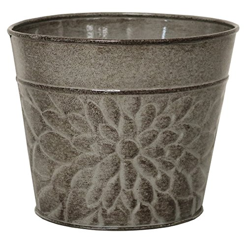 Robert Allen MPT02009 Laurel Series Metal Planter Flower Pots, 8
