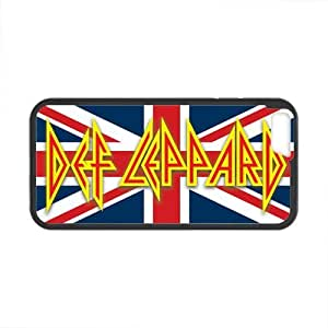 Onshop Custom Def Leppard British Flag Phone Case Laser Technology for iphone 4 4s