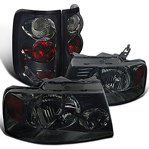 Ford F150 Styleside Smoked Crystal Headlights, Smoked Altezza Tail Lamps