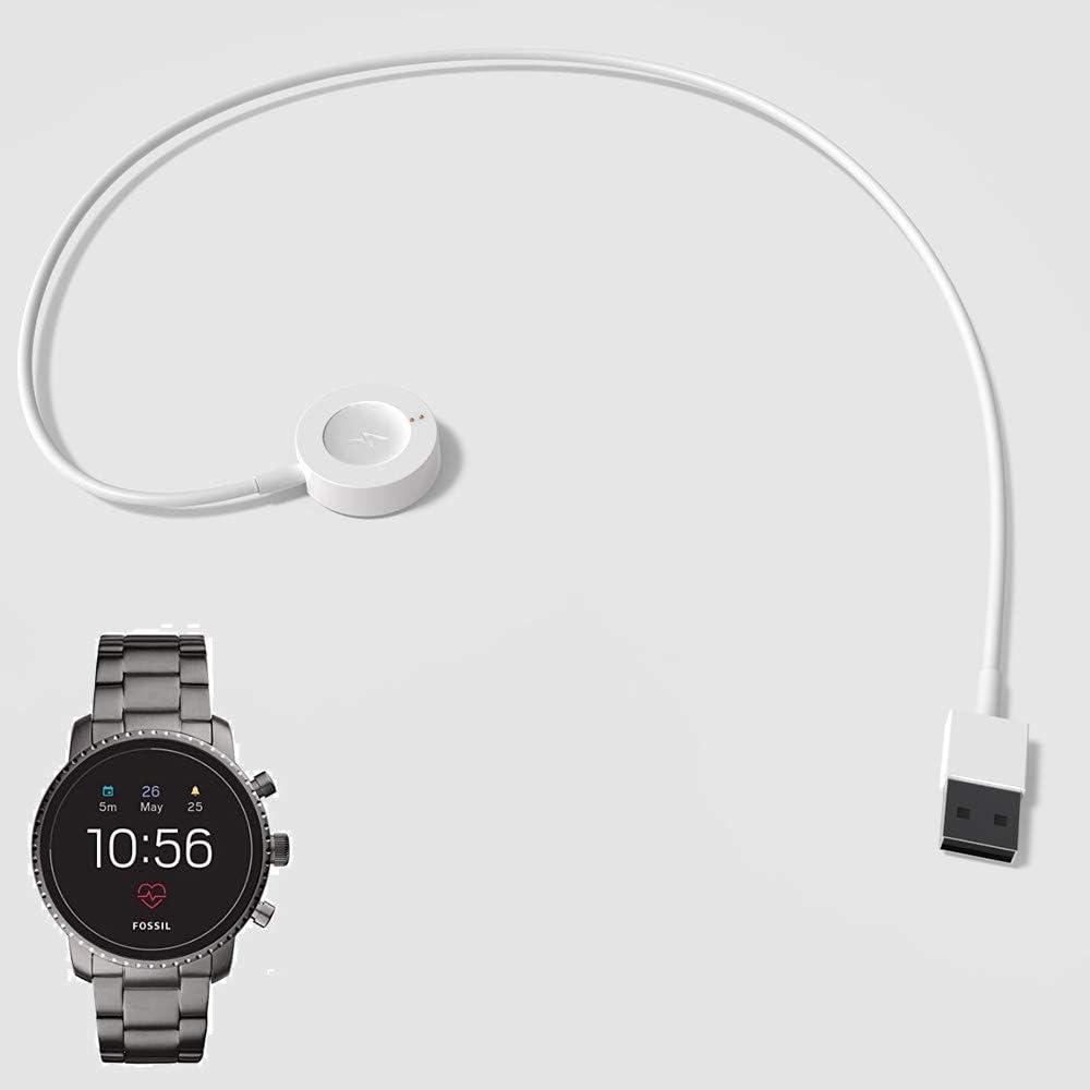 White Kissmart for Fossil Gen 4 Charger Replacement Charger Cord for Fossil Gen 4 Heart Rate Explorist HR//Venture HR//Sport Touchscreen Smartwatches FTW0004