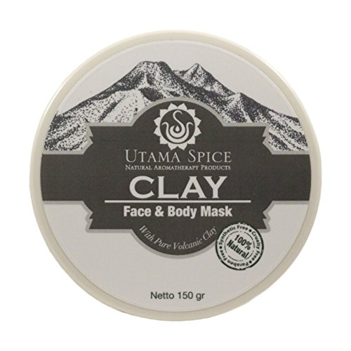 THE VERY BEST Volcanic Face and Body Clay Mud Mask 150g/ 5.3oz- Face and Body Clay Mud Mask Facial Treatment for Acne Blackheads Pimples Scars and Cellulite. Premium Spa Quality Balinese Clay Product. (Volcanic Mud)