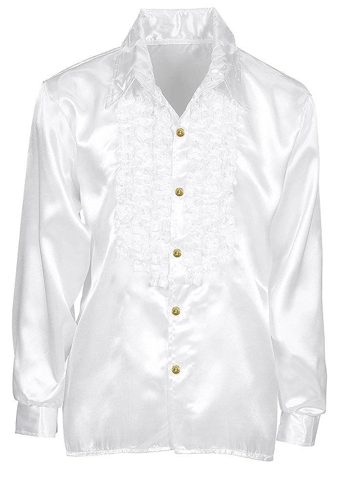 Tolle gl/änzende Hemden mit R/üschen im Stil der 70er 80er Jahre f/ür Jungen und M/ädchen Das Kost/ümland Satin R/üschenhemd Johnny f/ür Kinder