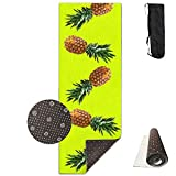 Bghnifs Pineapple Mellow -Green Printed Design Yoga Mat Extra Thick Exercise & Fitness Mat Fit Yoga,Pilates,Core Exercises,Floor Exercises,Floor Exercises