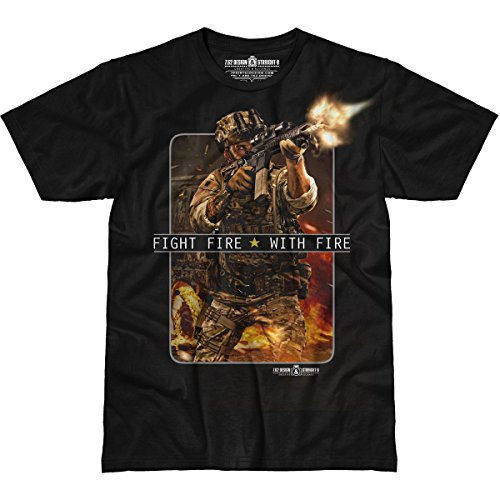 7.62 Design 'Fight Fire with Fire' Men's Straight-8 T-Shirt XL