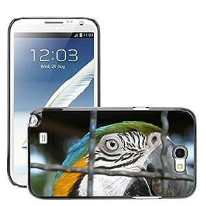Super Stella Slim PC Hard Case Cover Skin Armor Shell Protection // M00106407 Bird Arara Azul Brazil Cage Macaw // Samsung Galaxy Note 2 II N7100