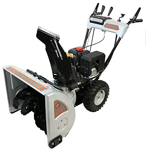Dirty Hand Tools 106371 – Self-Propelled, Dual Stage, 212cc Loncin Engine, 24″ Snow Blower