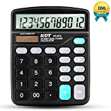 Calculator,KDT Handheld Standard Function Desktop Calculator,12 Digit Dual Power
