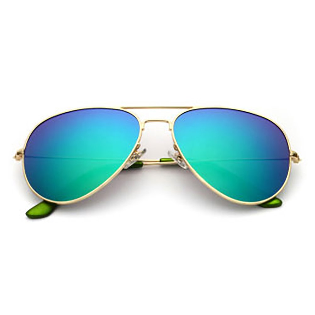 gold Frame Bright Green XINGZHE Sunglasses  Polarized, UVResistant, Large Frame, Stylish and colorful, Ladies Shopping, Driving, Street Shooting, a Total of 8 colors to Choose from Sunglasses (color   gold Frame orange)