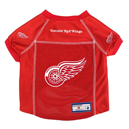 NHL Detroit Red Wings Pet Jersey, - Hockey Red Dog