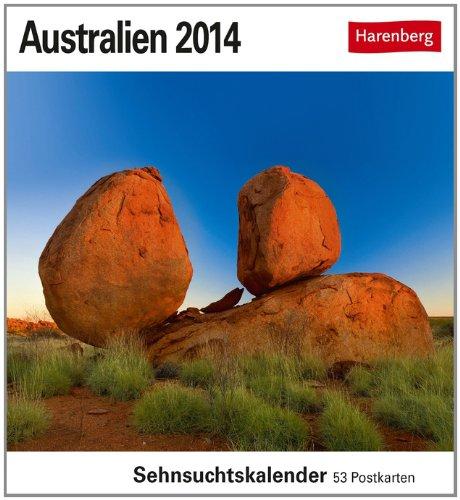 Australien 2014: Sehnsuchts-Kalender. 53 heraustrennbare Farbpostkarten