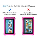 [2-Pack] All-New Fire 7 / Fire 7 Kids Edition Screen Protector - OMOTON Tempered Glass Screen Protector with [Crystal Clear][Scratch Resistant][2017 Released]
