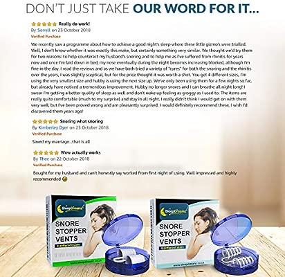 Antironquidos Dilatador Nasal SleepDreamz – Solucion para ronquidos – Diseñados Científicamente para Detener los Ronquidos, Respiración Fuerte, Apnea ...