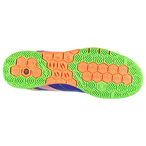 Joma - Botas de fútbol de Material Sintético para hombre azul y naranja