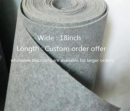 3mm Thick Wool Blend Felt Wholesale, Felt Yardage, Wool Felt Fabric, Wool Felt Kit (Light Grey, 5 Yards)