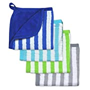 green sprouts Muslin Washcloths made from Organic Cotton,Royal Set