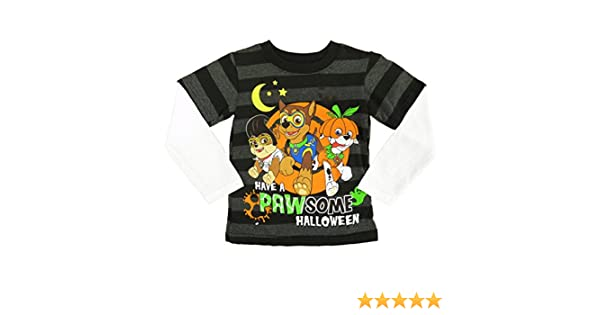 e0db760e Amazon.com: Paw Patrol Infant Toddler Boy Black Glow In The Dark Pawsome Halloween  Shirt 12m: Clothing