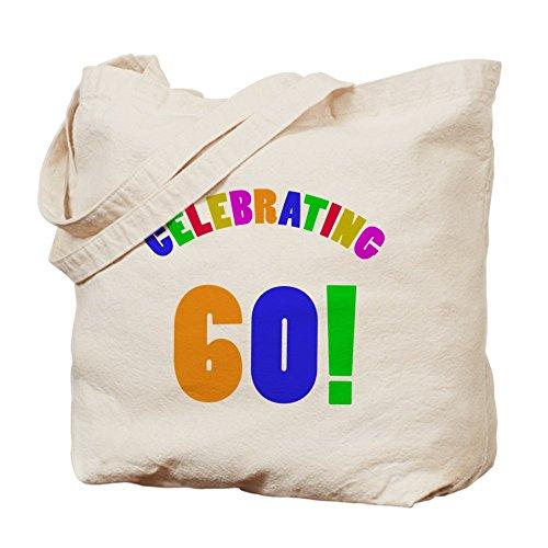 Bolso de mano del arco iris - CafePress 60th bolso de totalizador de la fiesta de cumpleaños