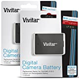 (2 Pack) Vivitar LP-E10 Ultra High Capacity 1100mAh Li-ion Battery for CANON Rebel T5 T3, EOS 1200D 1100D DSLR Cameras (Canon LP-E10 Replacement)