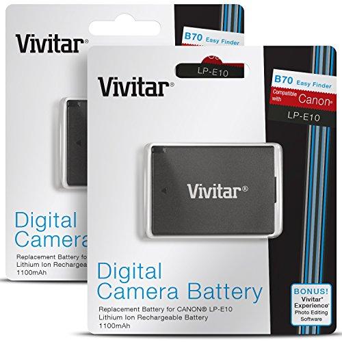 Vivitar LP-E10 Ultra High Capacity 1100mAh Li-ion Battery f