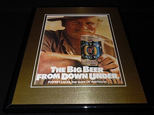1982-fosters-lager-beer-11x14-framed-original-vintage-advertisement