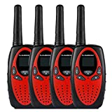 FLOUREON 4 Packs Walkie Talkies Two Way Radios 22 Channel 3000M UHF Handheld