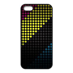 iPhone 5 5s Cell Phone Case Black Colorful Stripes Zufe
