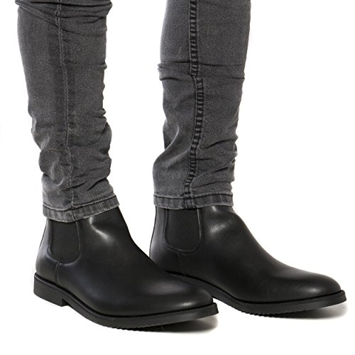 nae Mesa - Men's Vegan Chelsea Boots Black