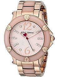 Betsey Johnson Womens BJ00459-04 Analog Display Quartz Rose Gold Watch