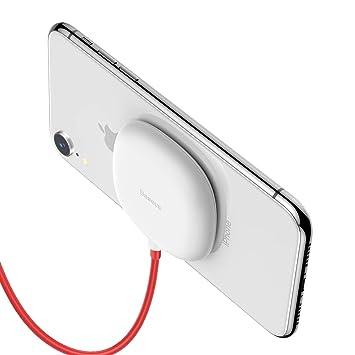 Baseus - Cargador inalámbrico de Carga rápida para iPhone 8 ...