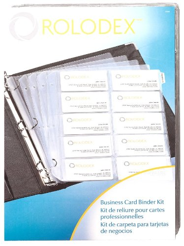 Amazon rolodex business card binder kit 67696 business rolodex business card binder kit 67696 colourmoves