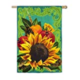 Fall Floral Garden Flag Size: 43″ H x 29″ W Review
