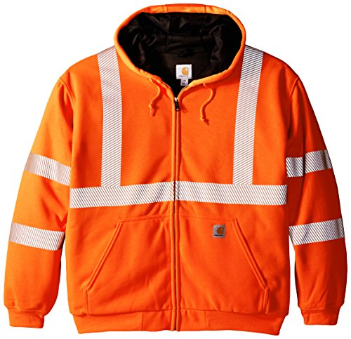 Carhartt Men's Big & Tall High Visibility Class 3 Thermal Sweatshirt,Brite Orange,XXX-Large (Hoodie Mens Pullover Thermal)