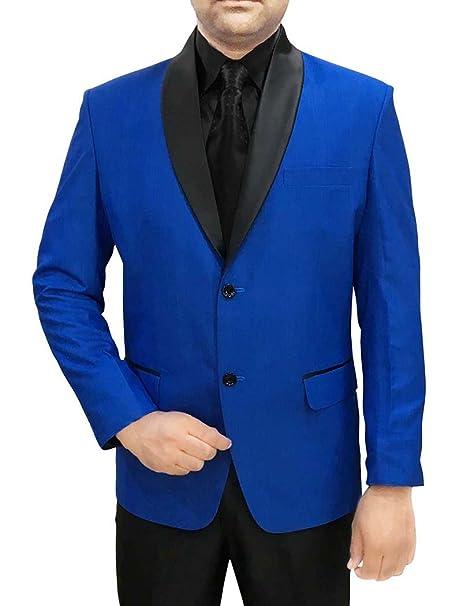 38256ed15c1c2 INMONARCH Hombres 4 Pc Smoking traje azul Mantón de solapa negra TX1056   Amazon.es  Ropa y accesorios