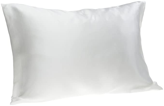 Spasilk 100 Percents Silk Pillowcase For Facial Beauty And Hair, Travel/Toddler, White by Spasilk