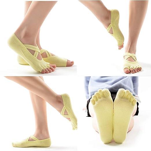 AYHa Calcetines de yoga antideslizantes de dedo del pie ...