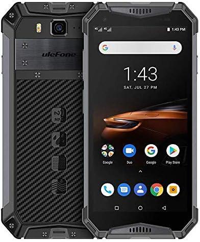 Ulefone Armor 3W-屋外スマートフォン5.7 FHDインチ、6 GB+64 GB、4 GスマートフォンAndroid 9.0 10300 mAhバッテリー、IP 68/IP 69 K防水/防振/防塵 (黑)