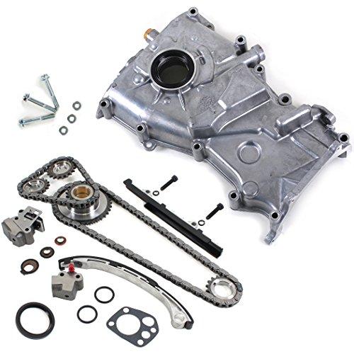 CNS TK10050OP Brand New Timing Chain Kit + Oil Pump Set for 1998-01 Nissan Altima 2.4L KA24DE Engine
