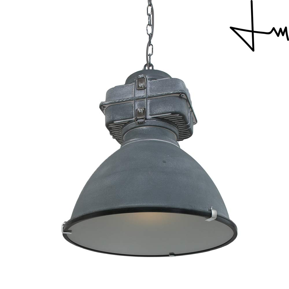 Mexlite series large industrial style designer light fixture designed by thomas mark industrial gray 1 light industrial pendant amazon com