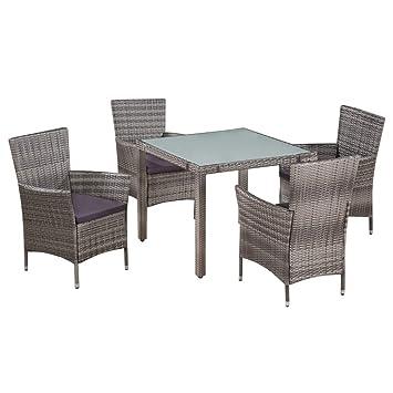 Fesjoy Conjuntos de Muebles de Jardín Juego de Comedor de ...