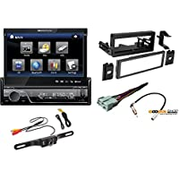 Fits 1995-2005 Chevy,Cadillac,GMC Vehicles pkg Soundstream VIR-7830B Single-Din Bluetooth Car Stereo DVD Player + 7-Inch LCD Touchscreen