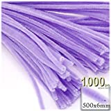 The Crafts Outlet Chenille Stems, Pipe Cleaner, 20-inch (50-cm), 1000-pc, Lavender