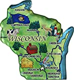 Flagline Wisconsin - Acrylic State Map Refrigerator Magnet