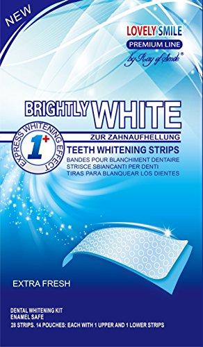 Lovely Smile | 28 WHITE-STRIPS Teeth whitening strips - Advanced NO-SLIP...