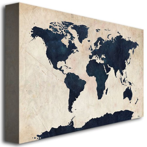 Amazon world map navy by michael tompsett 30x47 inch canvas amazon world map navy by michael tompsett 30x47 inch canvas wall art oil paintings posters prints gumiabroncs Image collections