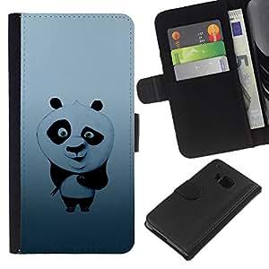 iBinBang / Flip Funda de Cuero Case Cover - Ejemplo lindo PANDA BEAR - HTC One M9