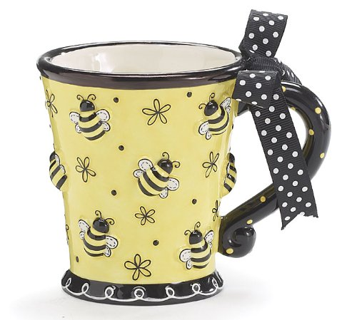 Raised Design Bee Mug