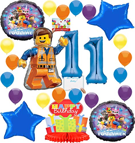 Lego Movie 2 Deluxe Balloon Decoration Bundle for (11th Birthday)
