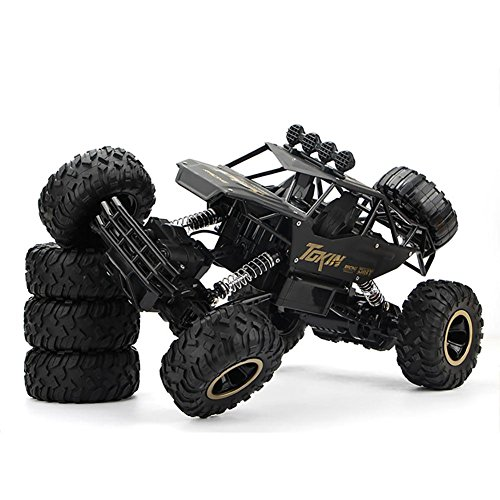 Remote Control Car Off-Road Rock Vehicle Climber Truck,ABS+Alloy Material,High Speed 1:12 Toys Children Games Funny Gifts Cool Gadgets for Boys Girls Teenagers Adults JMung'S , black