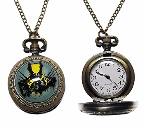 Marvel+Watches Products : Marvel Comic's Wolverine Bronze Finish Pendant Pocket Watch