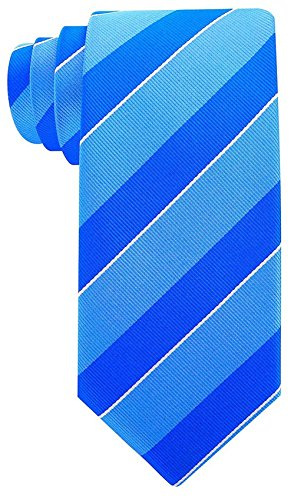 (College Striped Ties for Men - Woven Necktie - Blue)